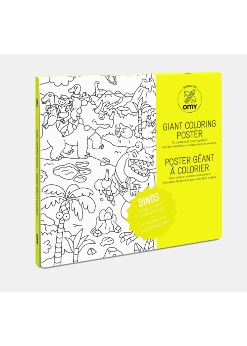 OMY Coloring Poster- Dinos