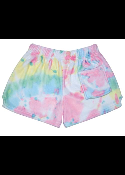 IS Swirl Tie Dye Plush Shorts w/back pocket