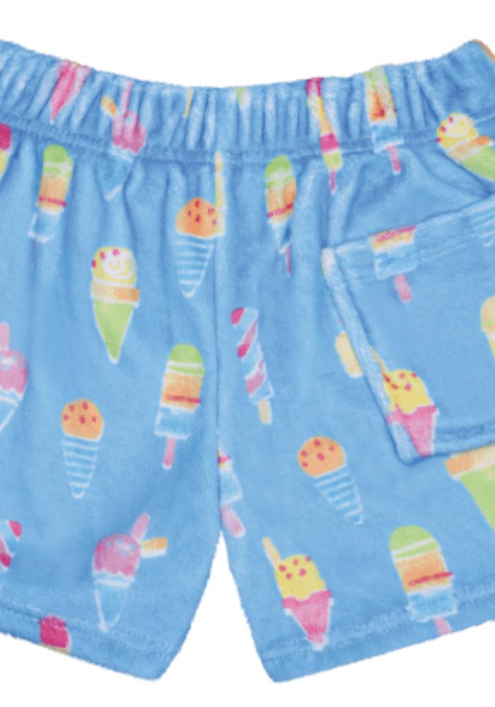 IS Sundae Funday Plush Shorts w/back pocket