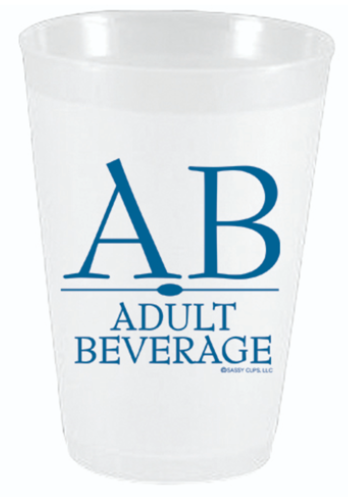 Pack of 10 Party Cups - Adult Beverage