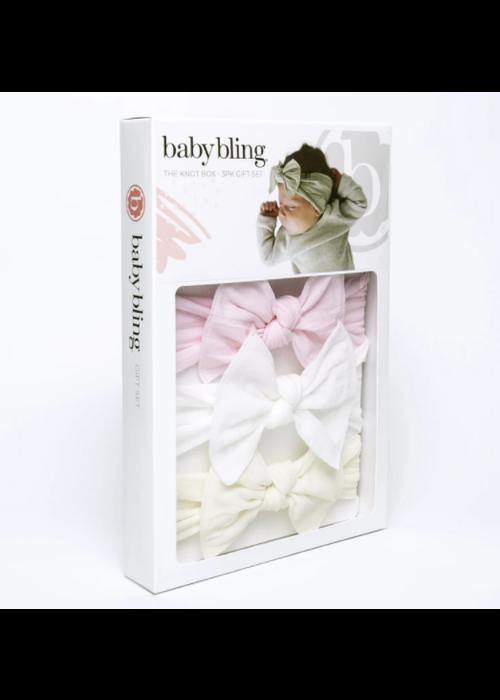 Baby Bling Baby Bling 3PK Knot Set Bow Headband