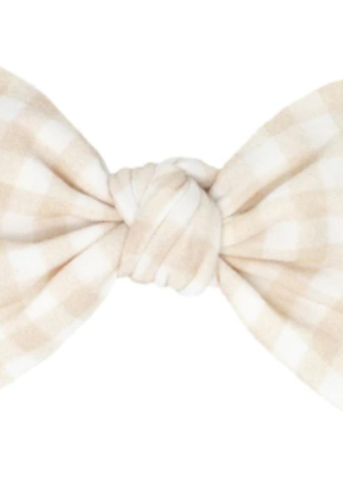 Baby Bling Printed Knot Bow Headband