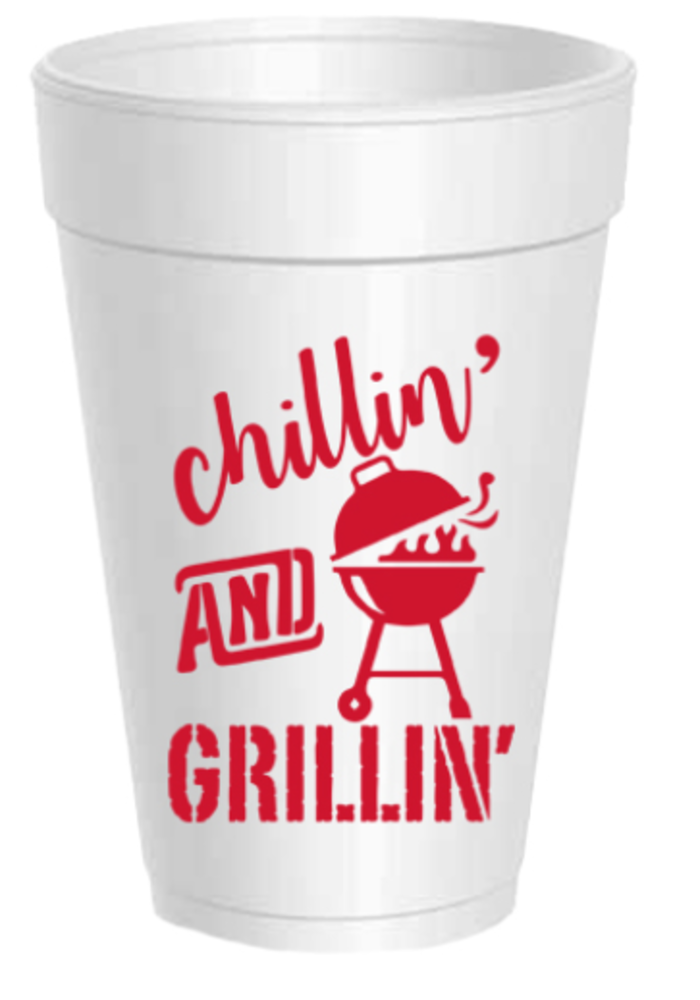 Party Cups Set of 10 - Chillin & Grillin