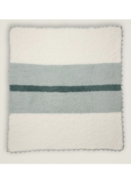 Barefoot Dreams BFD Cozychic Striped Receiving Blanket in Ocean