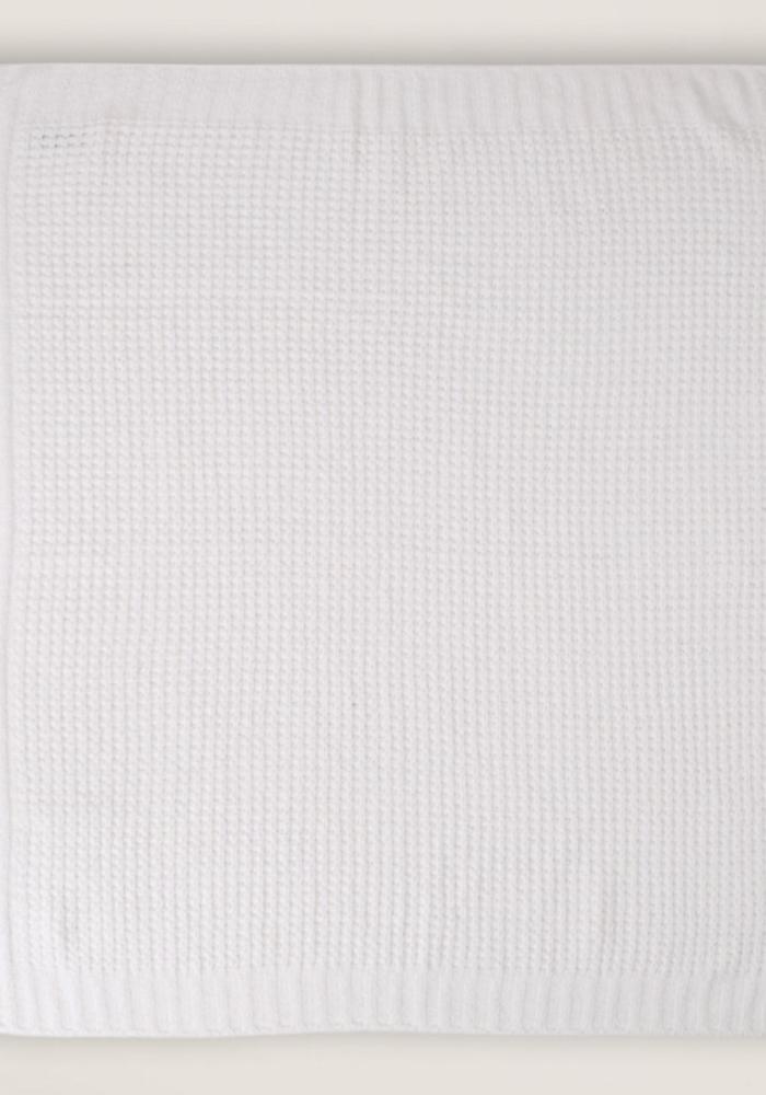 Waffle Baby Blanket 30x32 Pearl