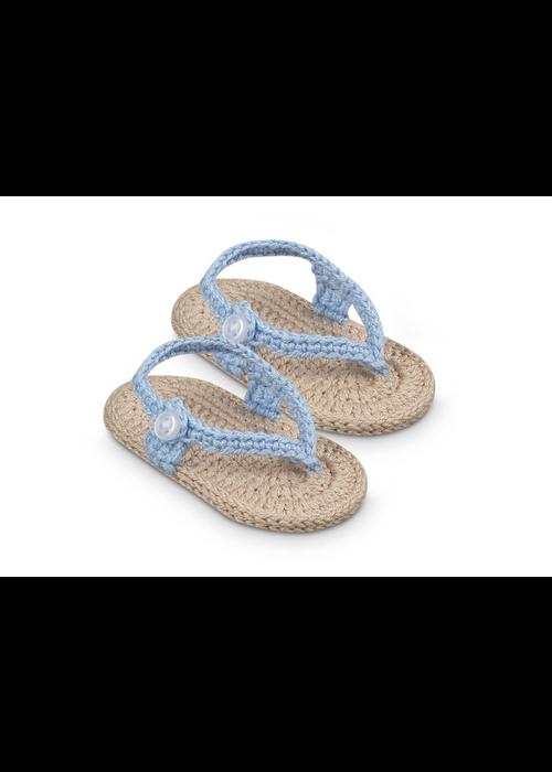 Jefferies Socks JEF My First Flip Flops Crocheted Bootie - Blue