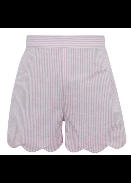Anavini Anavini Girls Shorts Lt Pink Seersucker