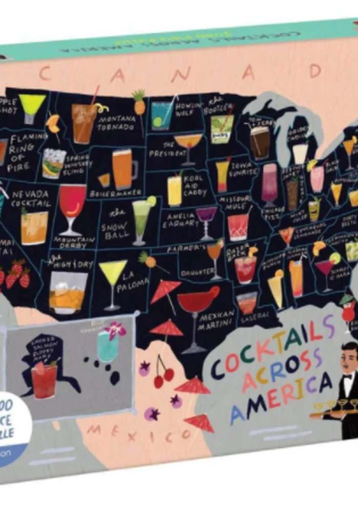 Cocktails Across America 1000 Pc Puzzle
