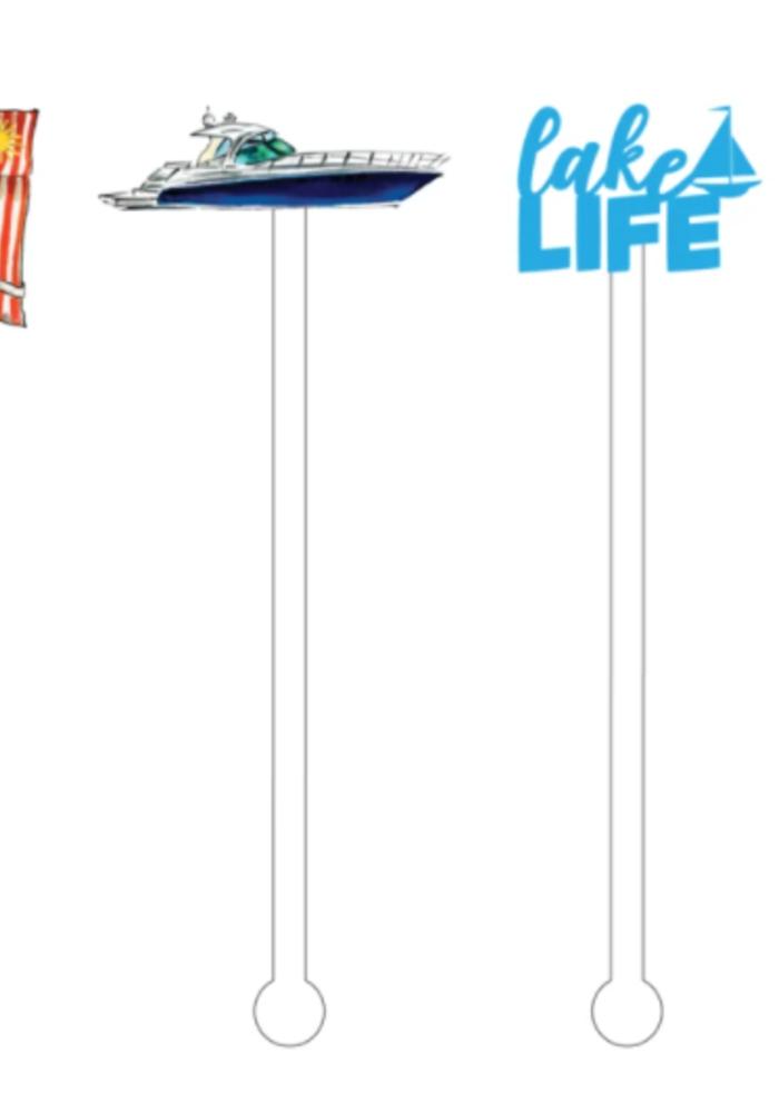 The Lake Life Acrylic Sticks Reuseable