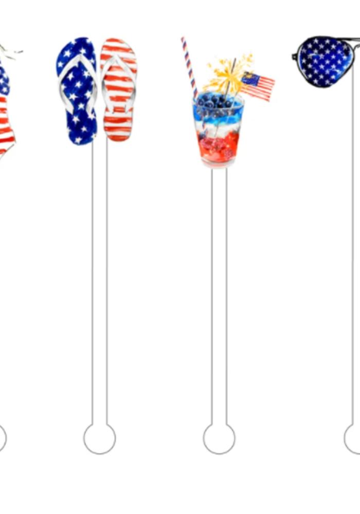 Patriotic Babe Reusable Acrylic Skewers