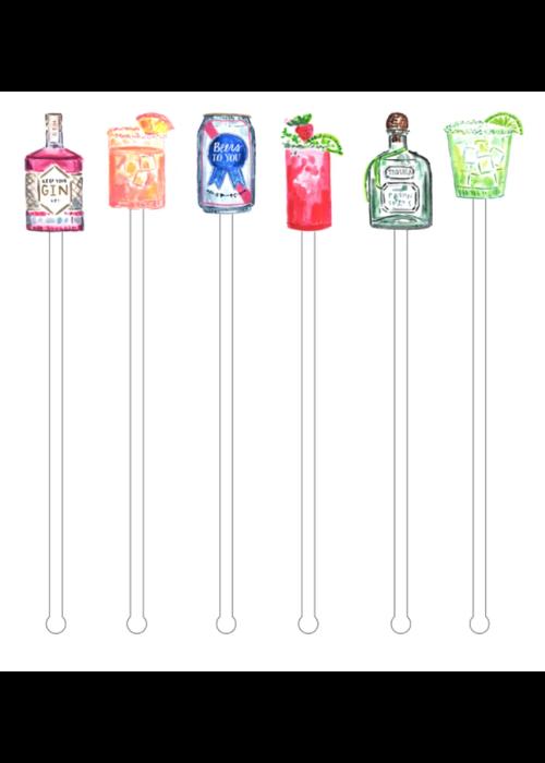 Liquid Diet Acrylic Stir Sticks Reusable