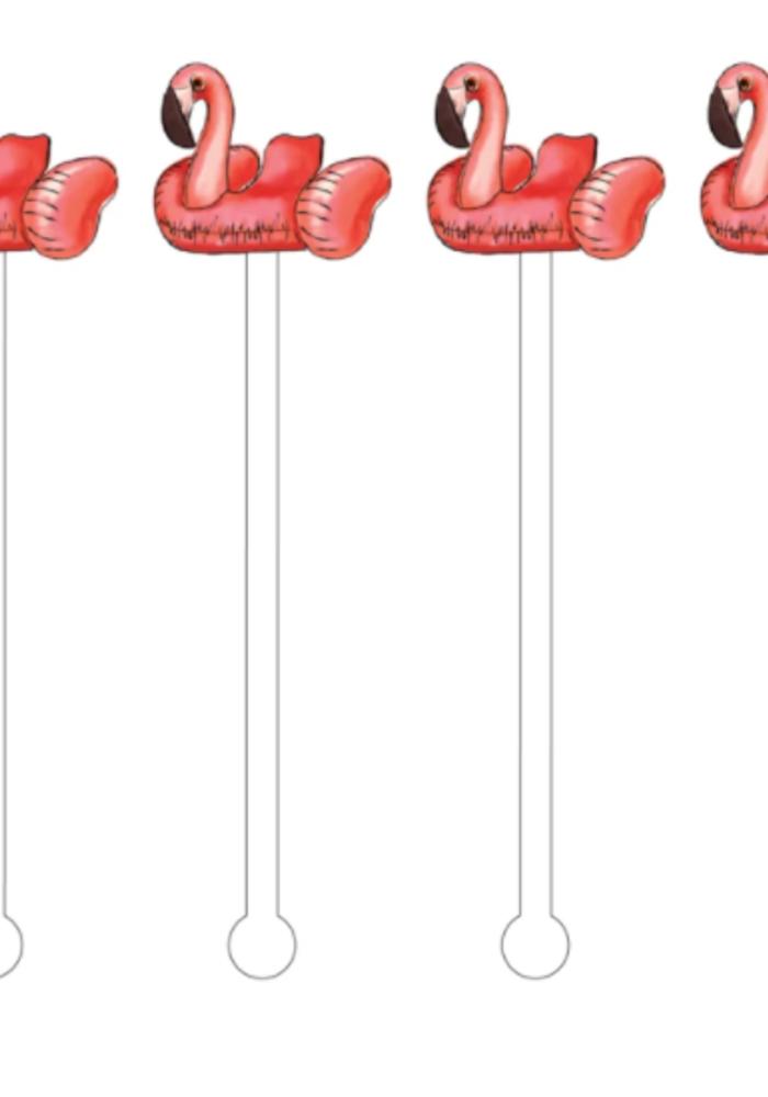 Flamingo Floaty Acrylic Stir Sticks Reusable