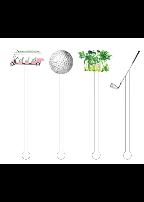 Girls that Golf Acrylic Stir Sticks Reusable