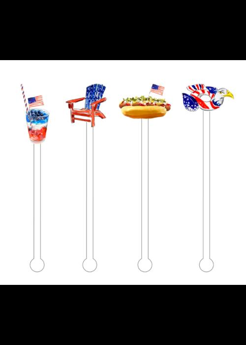 Loving the American Life Reusable Acrylic Sticks