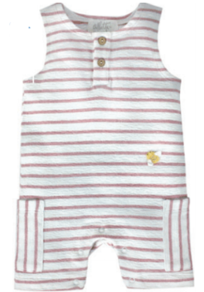Albetta Crochet Mini Bee Pink Stripe Romper