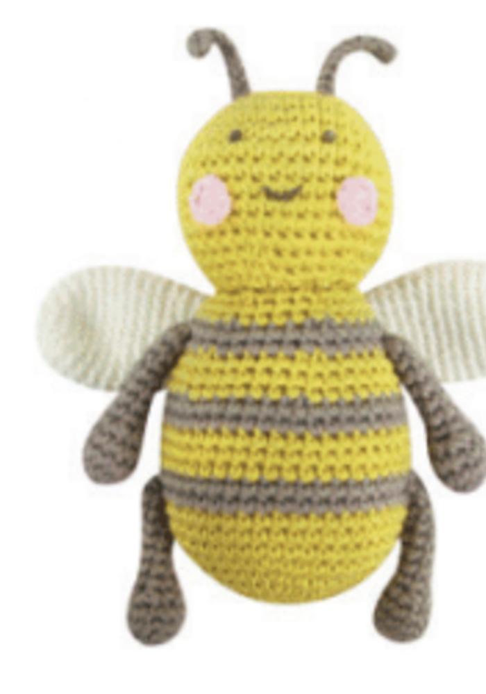 Albetta Crochet Baby Bee Rattle Toy