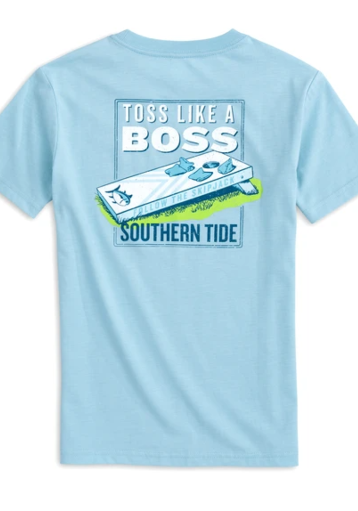 Southern Tide Dream Blue SS Toss Like a Boss Tee