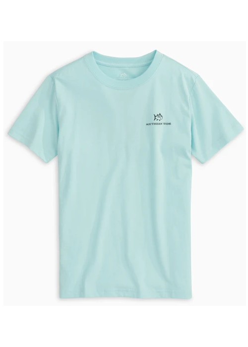 Southern Tide Southern Tide Wake Blue SS Explore More Tee
