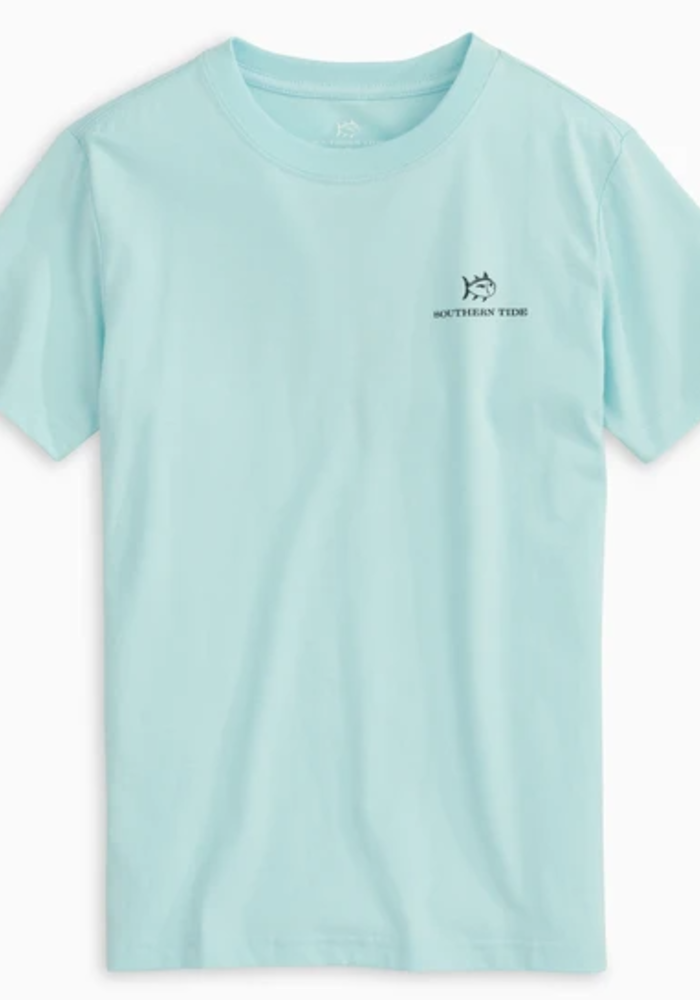 Southern Tide Wake Blue SS Explore More Tee
