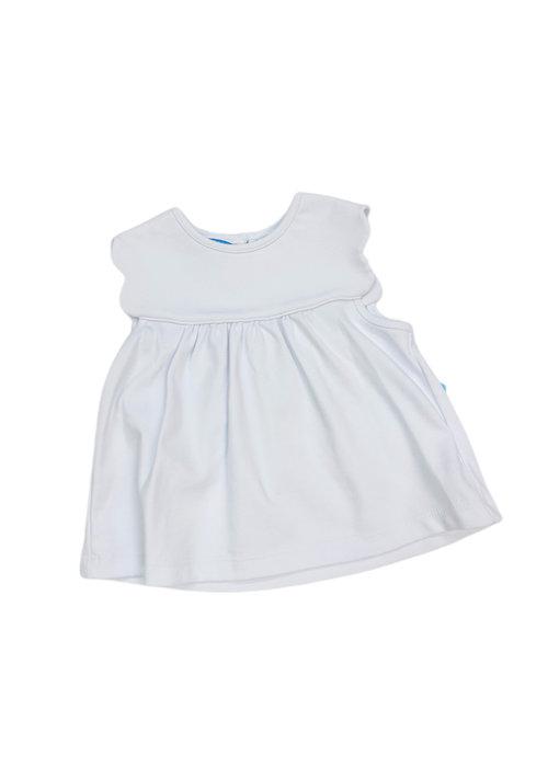 Anavini Anavini Girl Scallop Sleeve White Tshirt