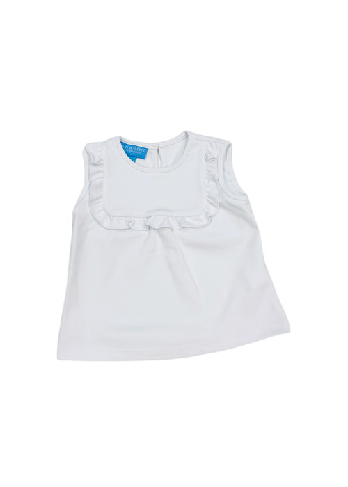 Anavini Anavini Girl Sleeveless White T-Shirt