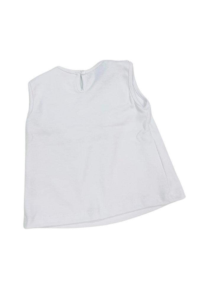 Anavini Girl Sleeveless White T-Shirt