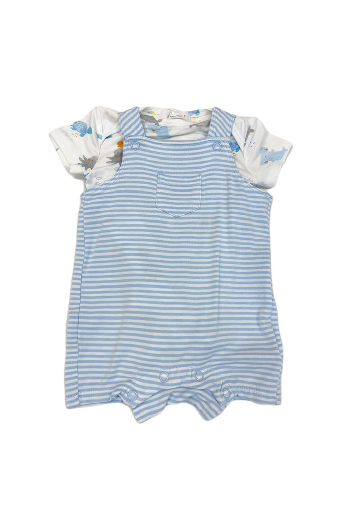 AD Puppy Play Overall Shortie in Blue