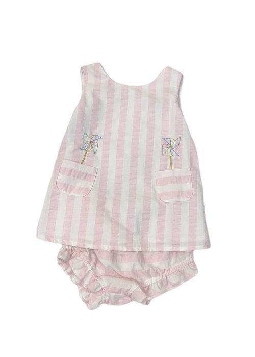 Sophie & Lucas S&L Sunny Stripe 2pc Swing Set Pink