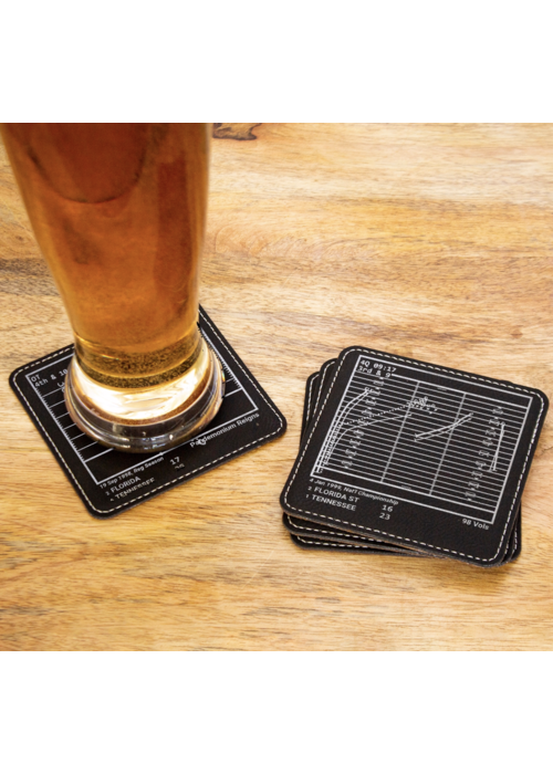 Greatest Tennessee Plays Coasters - Set of 4