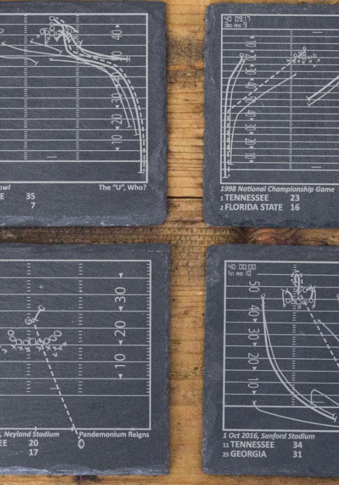 Greatest Tennessee Plays Slate Coasters - Set of 4