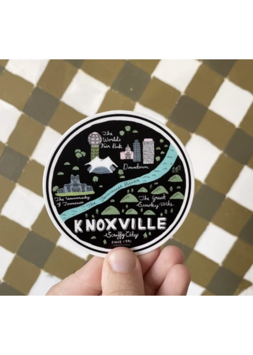Knoxville Map Sticker - Small