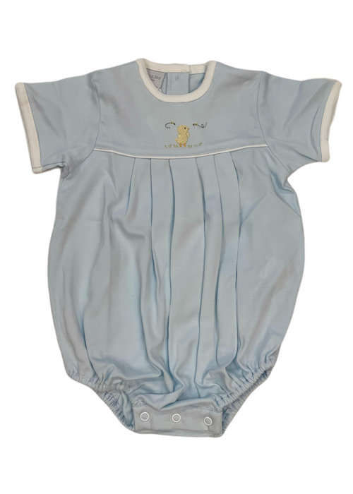 Squiggles Duck & Bees Pleated Romper Lt Blue