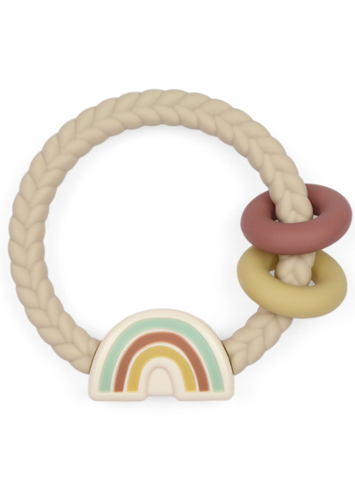 Itzy Ritzy Silicone Teether Rattle - Rainbow