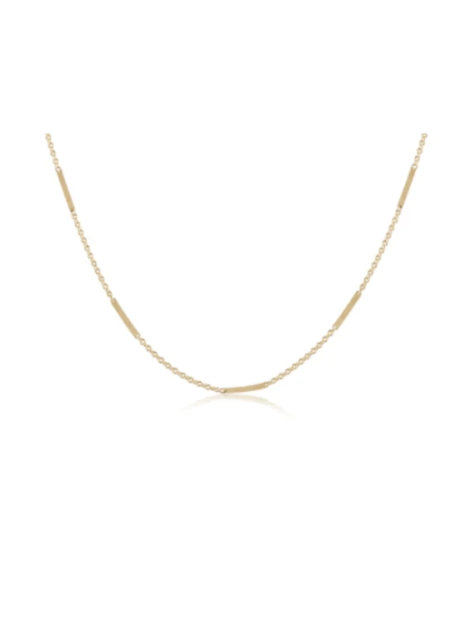 "E Newton EN Choker 15"" Simplicity Bliss Chain Gold"