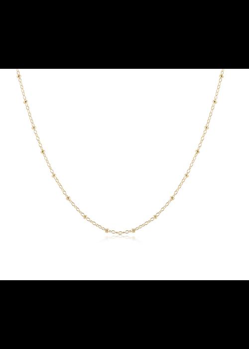 "E Newton EN 15"" Choker Simplictiy Chain Gold - 2mm bead"