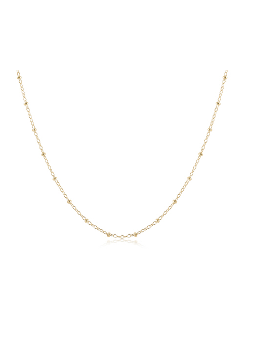 "EN 15"" Choker Simplictiy Chain Gold - 2mm bead"
