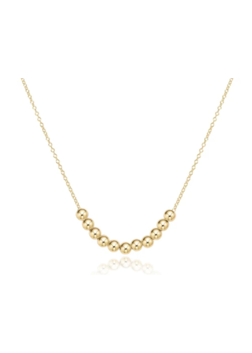 "E Newton EN 16"" necklace gold - classic beaded bliss"