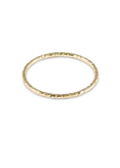 E Newton EN Classic Gold Thin Band Textured Ring