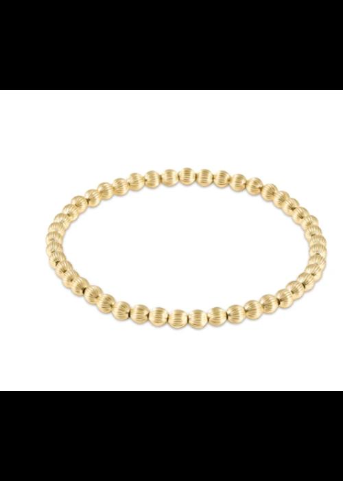 E Newton EN Dignity Gold 4mm Bead Bracelet