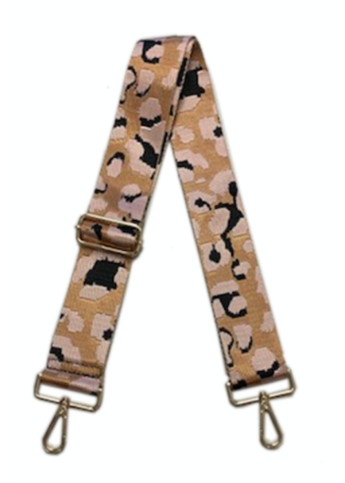 Ahdorned Leopard Adjustable Bag Strap w Gold Hardware - plus more colors!