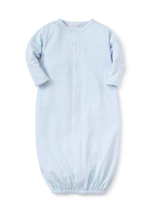 Kissy Kissy Kissy Kissy  Dots Print Converter Gown Blue/White Preemie