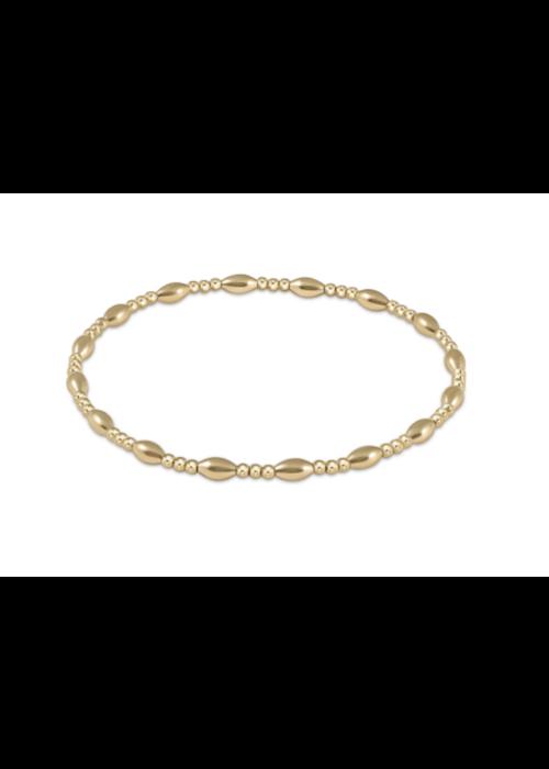 E Newton EN Harmony Sincerity Pattern 2mm Bead Bracelet Gold