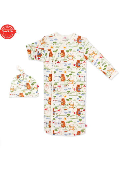 Magnetic Baby Magnetic Me Bear-B-Que Modal Magnetic Gown & Hat Set