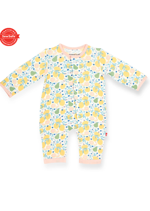 Magnetic Baby Magnetic Me Citrus Bloom Modal Magnetic Coverall