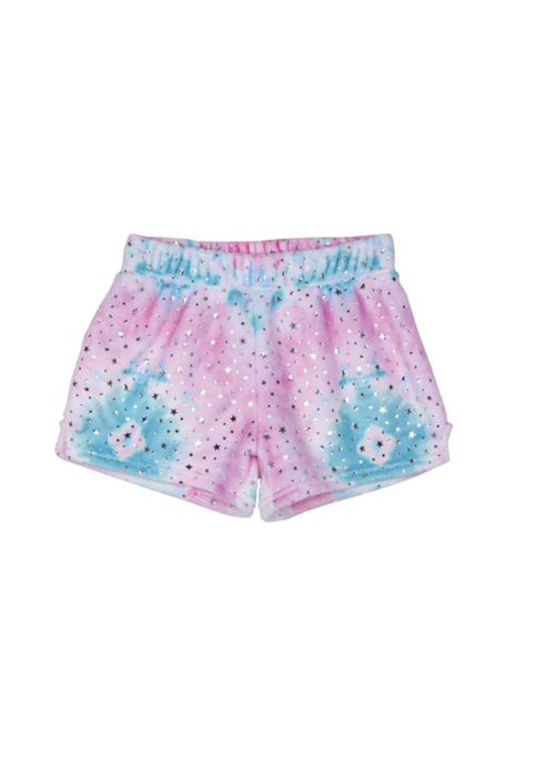 Iscream Silver Star Tie Dye Plush Shorts