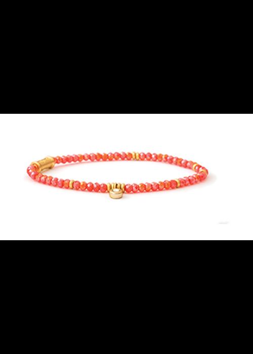 Spartina Stretch Bracelet 4mm Coral