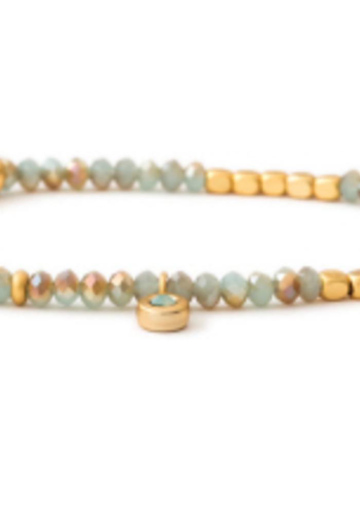 Spartina Stretch Bracelet 3mm Sea Foam