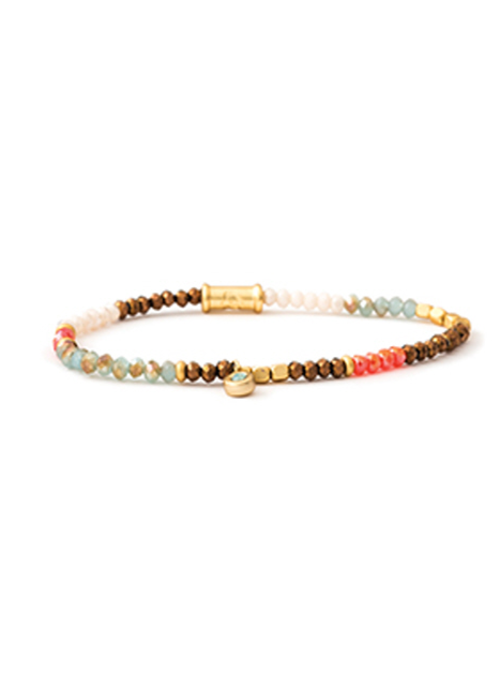 Spartina Stretch Bracelet 4mm Summer Multi
