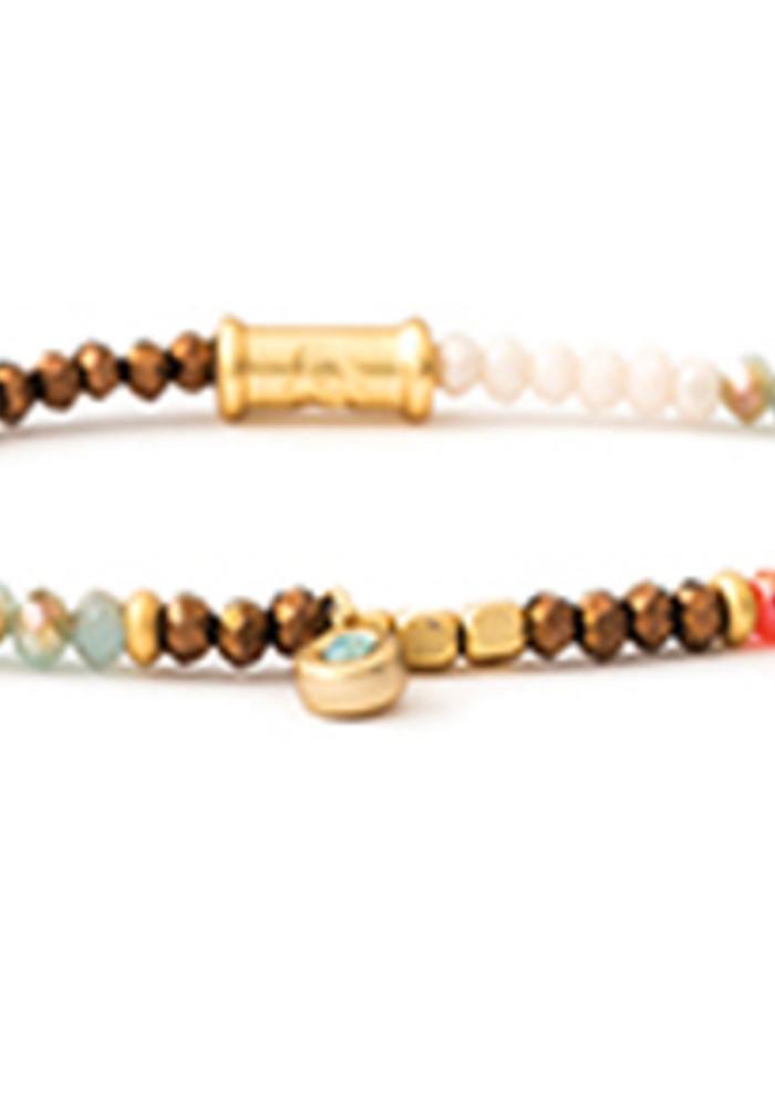 Spartina Stretch Bracelet 4mm Summer Multi
