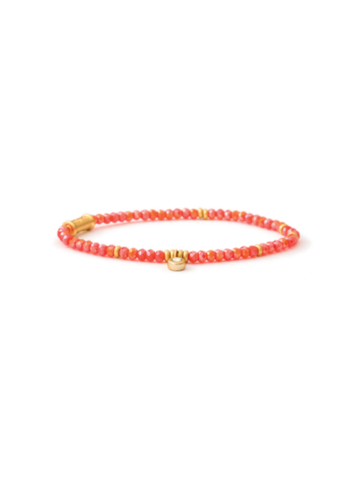 Spartina Stretch Bracelet  3mm Coral